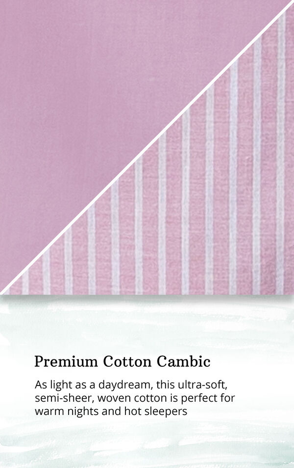 Mauve Stripe Flutter Sleeve Capri PJ for Women image number 4