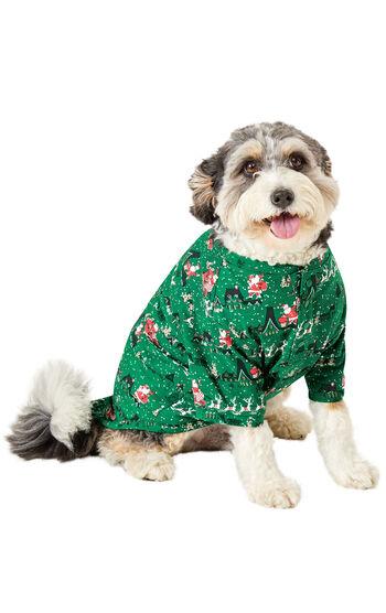 Santa's Sleigh Dog Pajamas