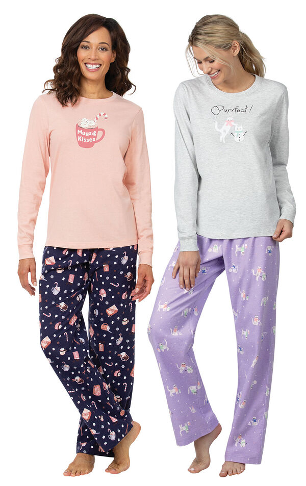 Mugs and Kisses PJs and Purrfect PJs image number 0
