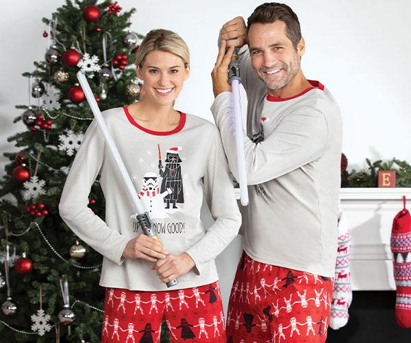 An image of a model wearing PajamaGram Star Wars Matching Family Pajamas