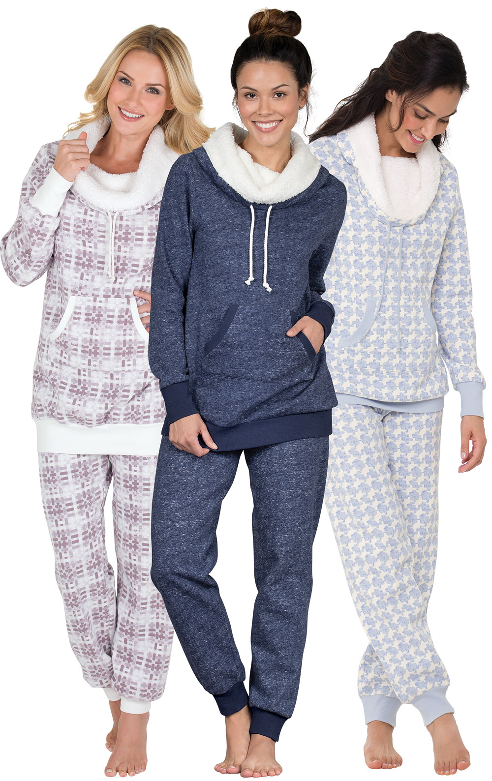 Deluxe Shearling Rollneck Pajama Gift Set in Women's Great Gift Values |  Pajamas for Women | PajamaGram