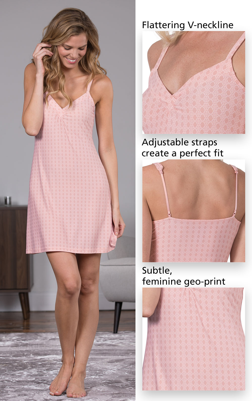 Blue & Pink Naturally Nude Chemise Gift Set in Womens