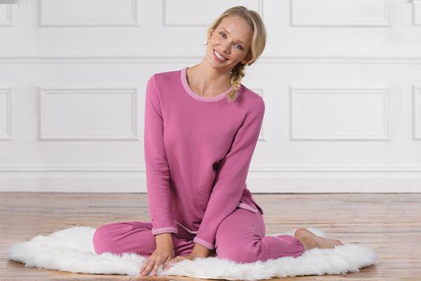 A model wearing pajamaGram World's Softest Pajamas