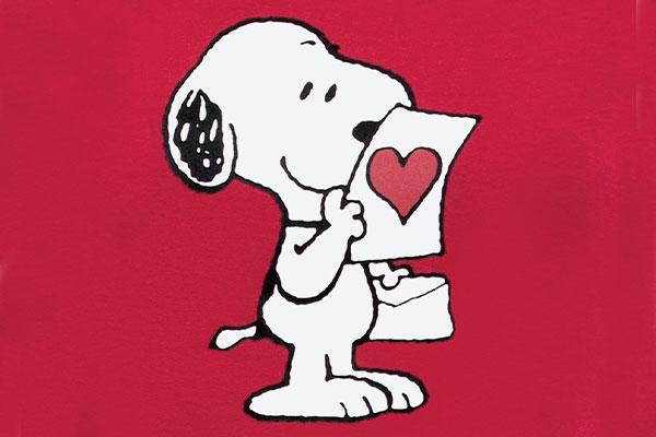 A swatch image of the Pajamagram Snoopy's Valentine pajamas