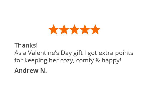 A customer quote about Pajamagram Snoopy's Valentine pajamas