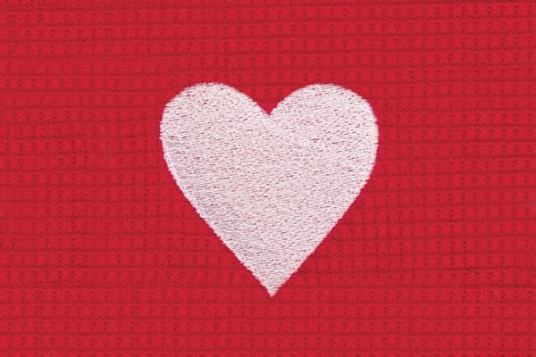 A swatch image of the Pajamagram Valentine's Day Plaid pajamas