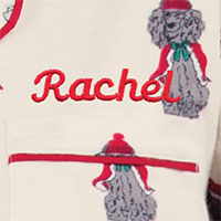 An image of PajamaGram Christmas dog boyfriend material swatch