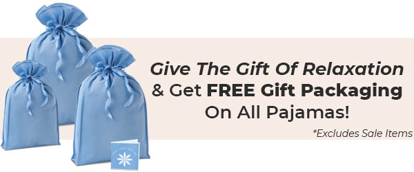 An image of PajamaGram Free Gift Packaging options available for all pajamas