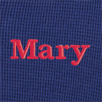 An image of PajamaGram Classic Navy Polka Dot material swatch
