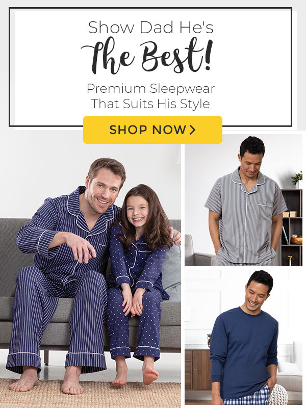An collage of images of men wearing PajamasGram Men's pajamas